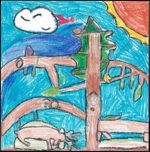 Winner of Art Contest Aged 6 to 8